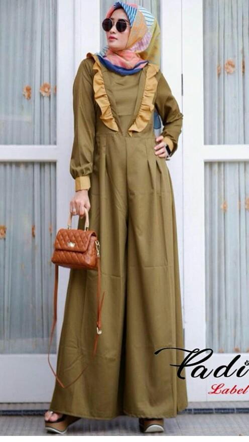 Baju Muslim Original Kriw Jumpsuit Baloteli Modern Casual Baju Modis Trendy Wanita  Pakaian Terbaru Setelan Hijab e8cdf0300e