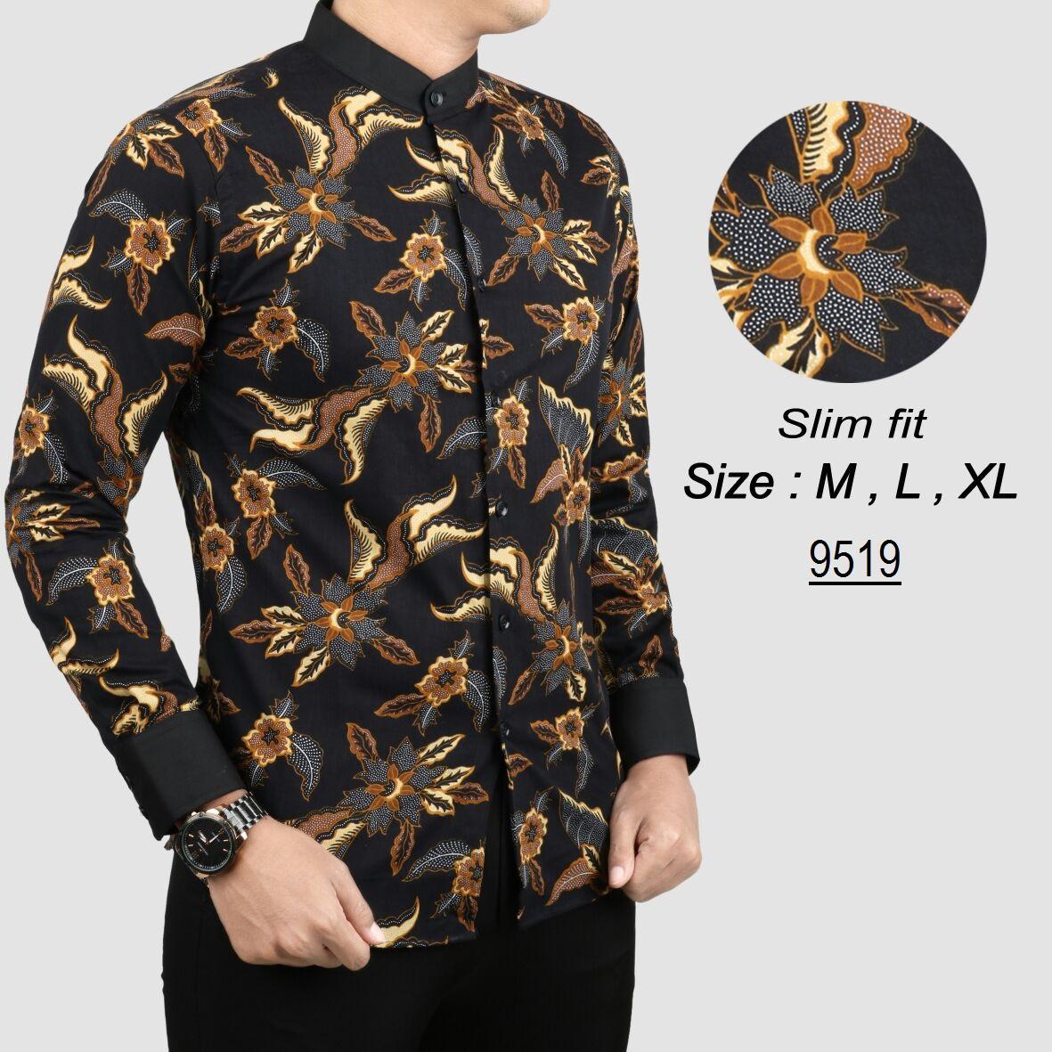 Batik Kerah Koko Kemeja Pria Slim fit K5