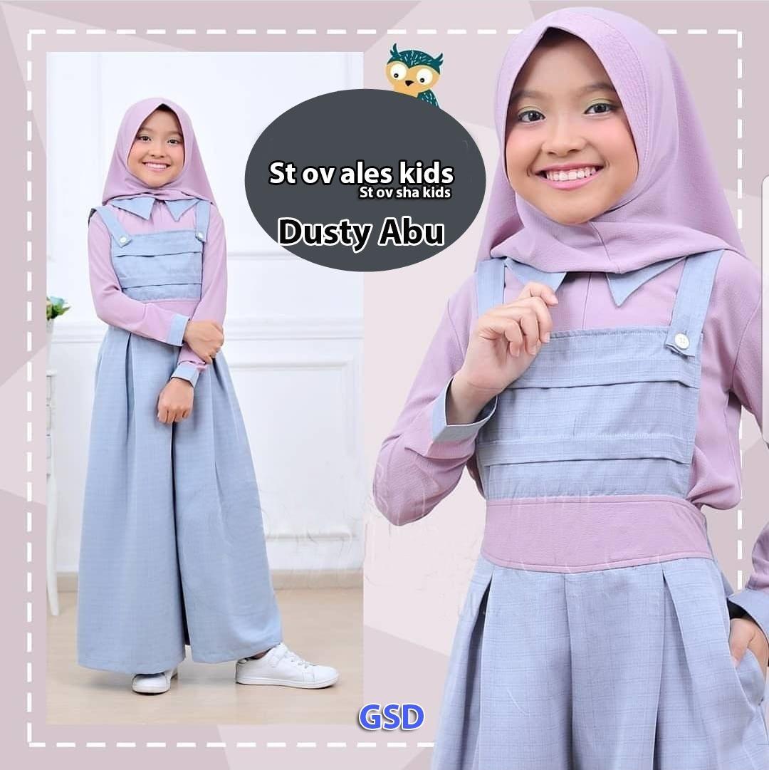 wow keren - Baju anak Over all ales /  stelan baju muslim anak/ overall anak / baju kodok anak / dr