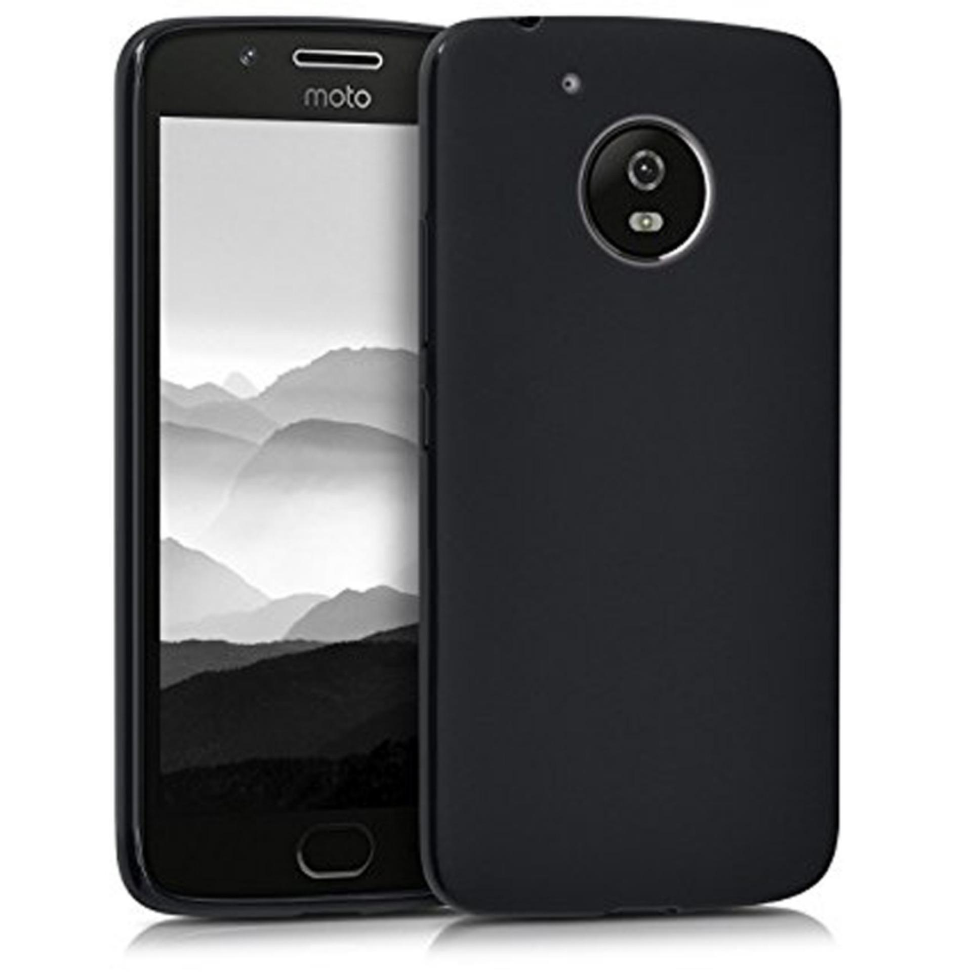 Case Slim Black doff Matte Anti minyak For Motorola Motto E4 Plus - Black Doff