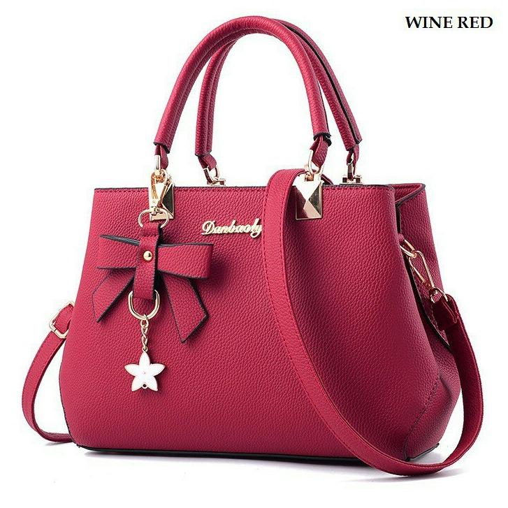 SP DB-02 Tas Branded Wanita Kulit Import Fashion Selempang Tangan Bahu Terbaru - High Quality PU Leather Korea Elegant Lady Sling Bag Style