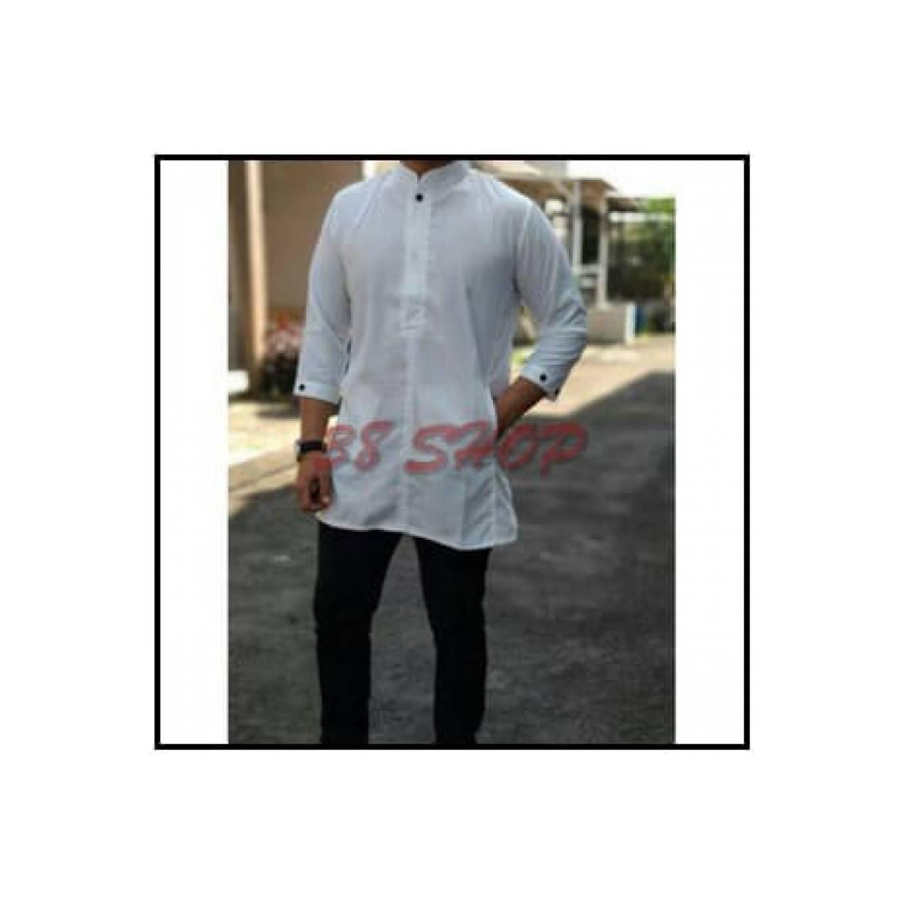 Ormano Baju Koko Muslim Batik Lengan Panjang Lebaran Hari Raya Busana Pria Kafa Katun Minyak Masa Kiniidr356500 Rp 448800