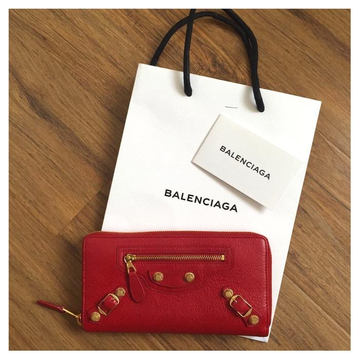 Balenciaga zipper wallet