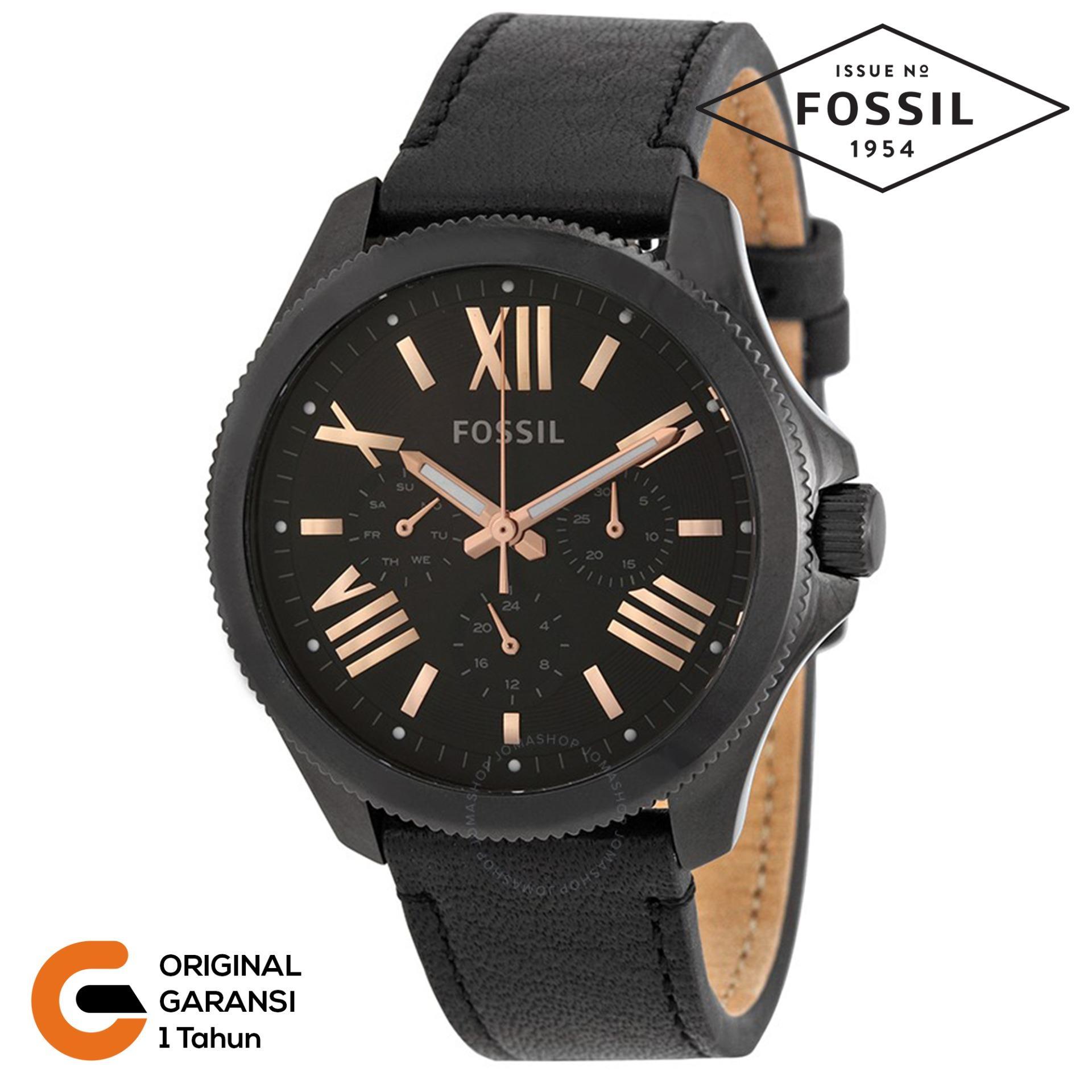 Jual Jam Tangan Fossil Terbaru Es3954 Tailor Multifunction Light Brown Leather Watch Wanita Am4532 Am4523 Tali Kulit Strap Coklat