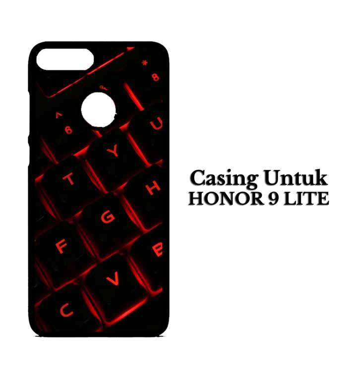 Casing HUAWEI HONOR 9 LITE red light keyboard Hardcase Custom Case Snitchshop