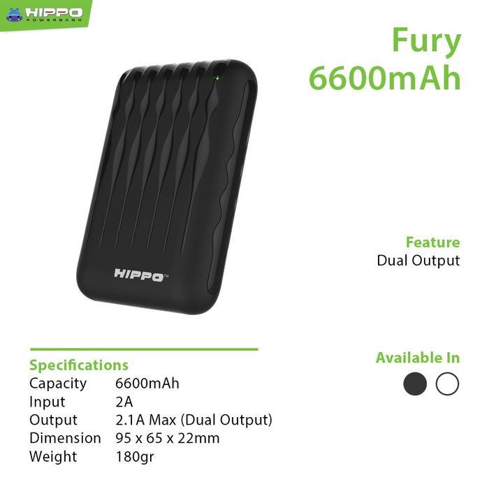 Powerbank Hippo Fury 6600mAh (power bank pb)