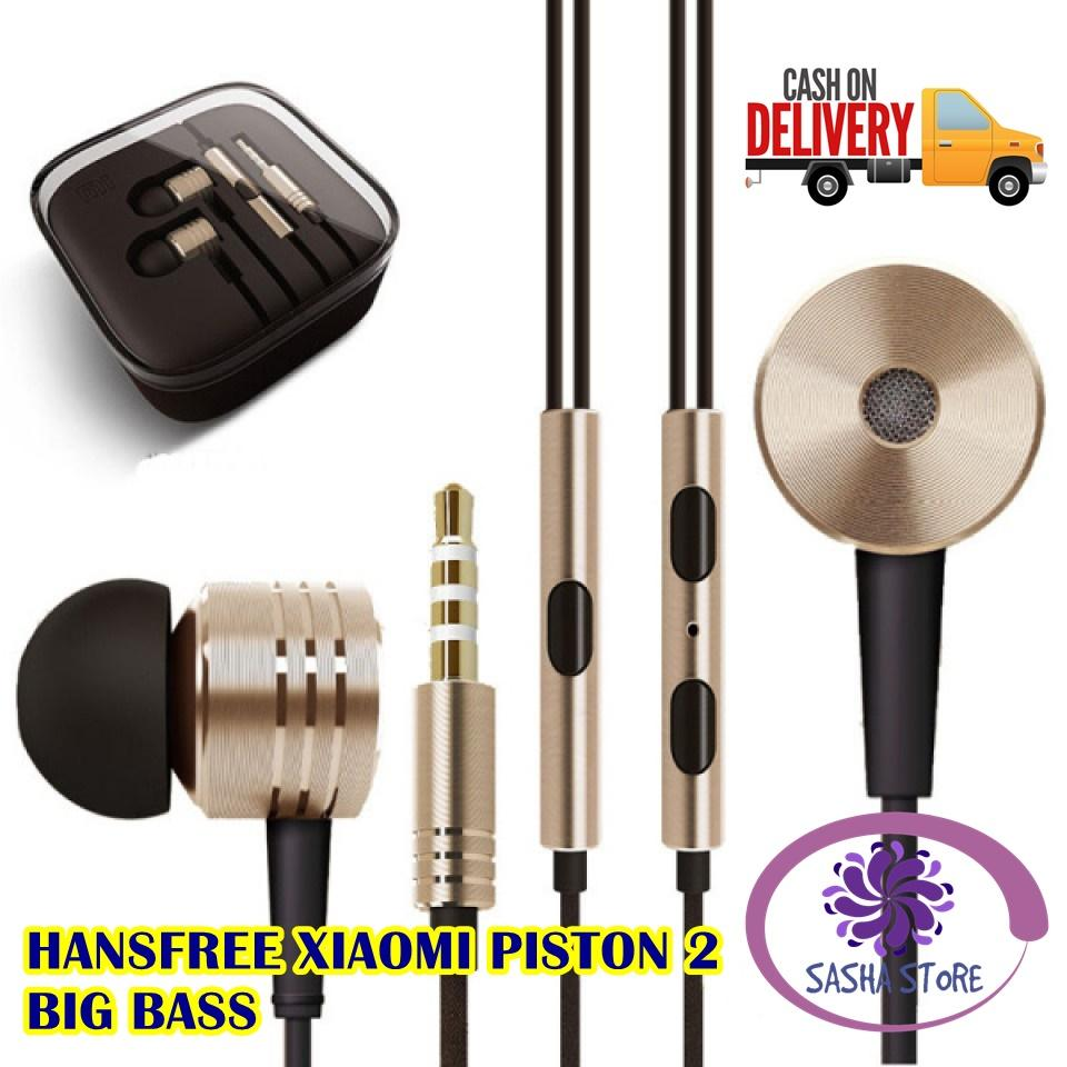 SS Earphone Xiaomi Piston 2 Big Bass Handsfree Xiaomi Piston 2 Headset Xiaomi Piston 2 For Xiaomi Piston Mi 2nd Generation Oem