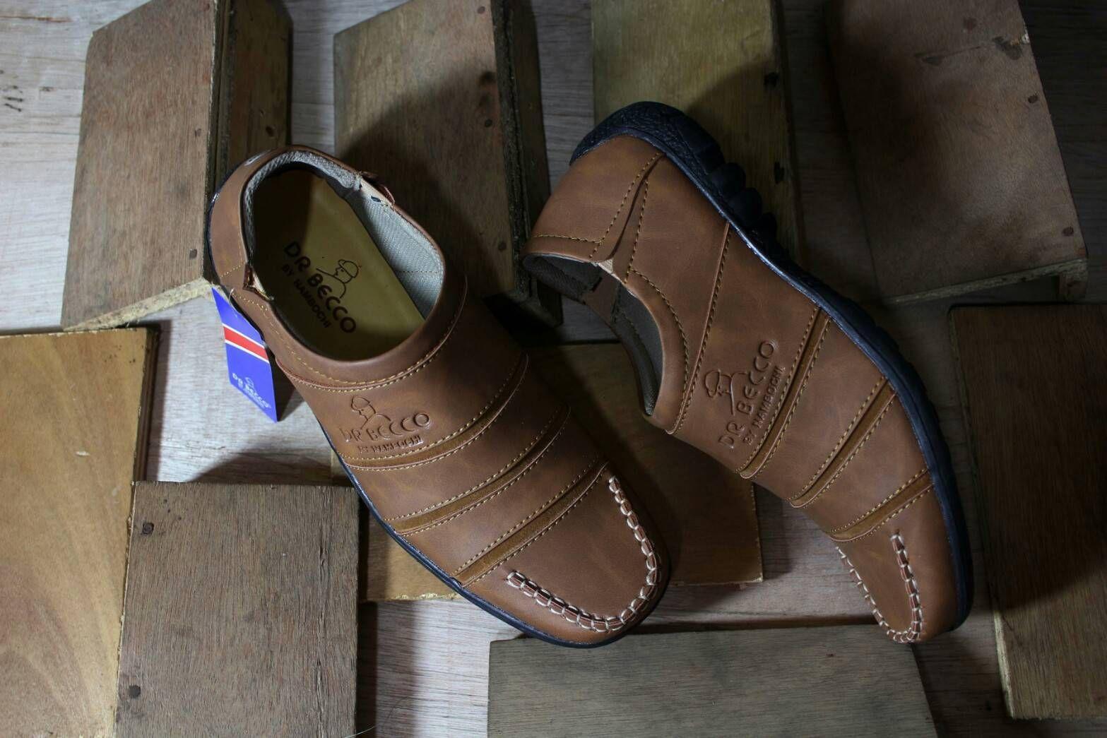 Sepatu Gaya Pria Dr Becco Kasual Trendi Slipon Pantifel Boots Vans Terbaru Coklat
