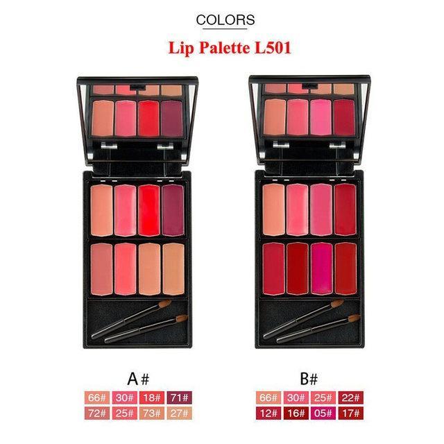 Menow 8 Warna Lip Gloss Makeup Tahan Lama - Lipstick Cosmetic Makeup Palette - L501-A