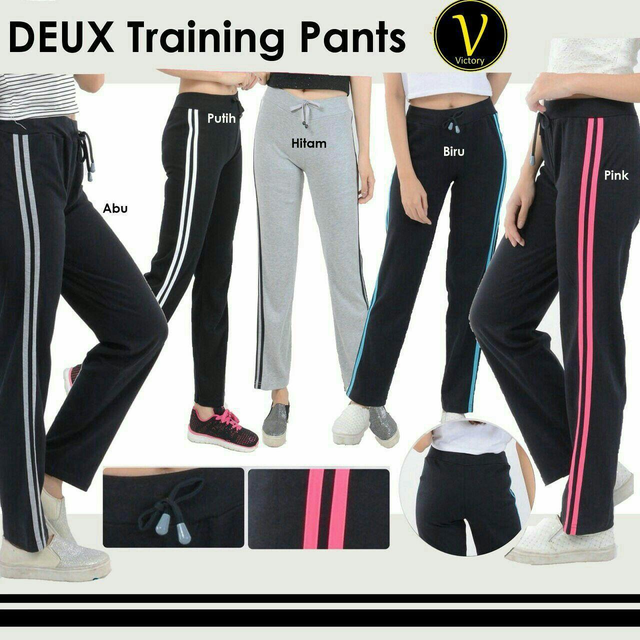 Deux Training Pants Celana Senam Celana Olahraga Celana Fitnes Celana Zumba Baju Zumba Legging Yoga Legging Aerobik