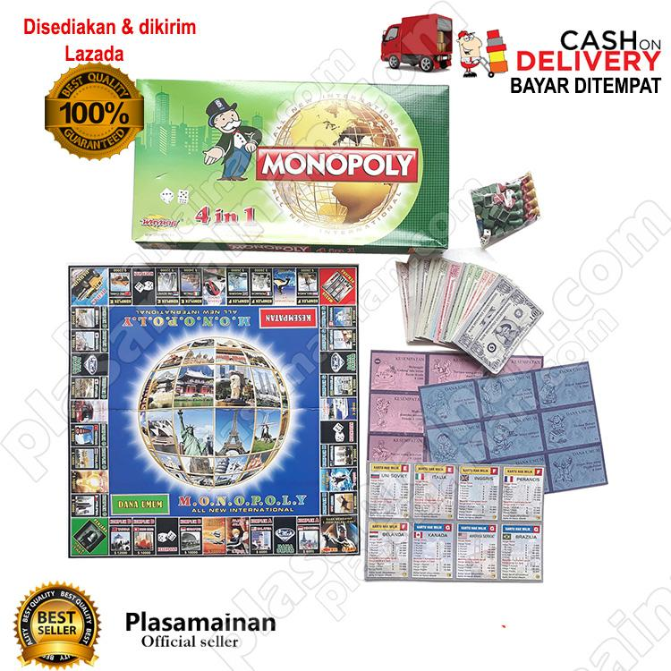 Monopoly 4 In 1 All New International - Mainan Monopoly By Plasamainan.
