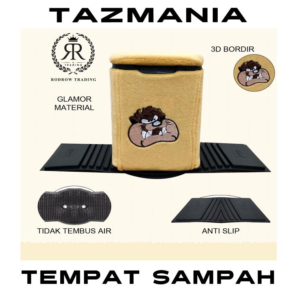 Tempat Sampah Mobil Motif Tazmania / Tong Sampah Mobil / Tempat Sampah Mobil Karakter Tazmania