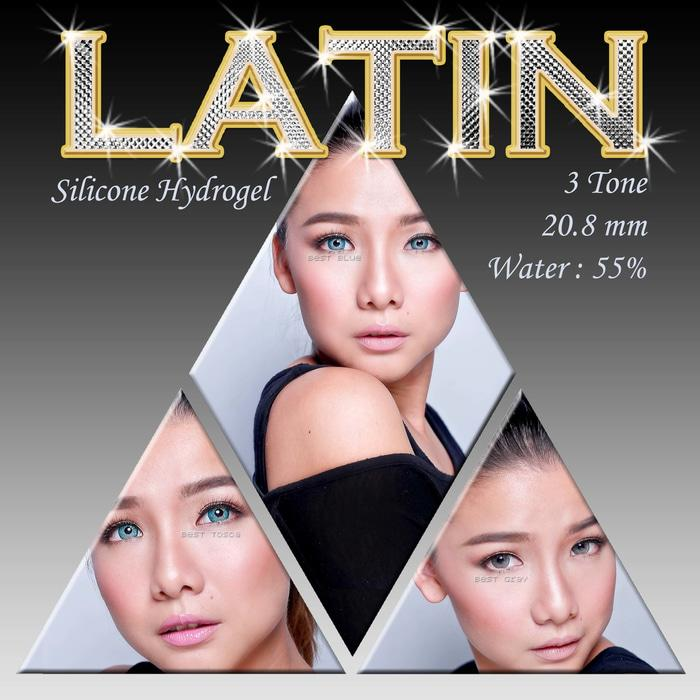 Promo Acessoris Warna Mata  Softlens Latin 3 Tones Best Brown Coklat
