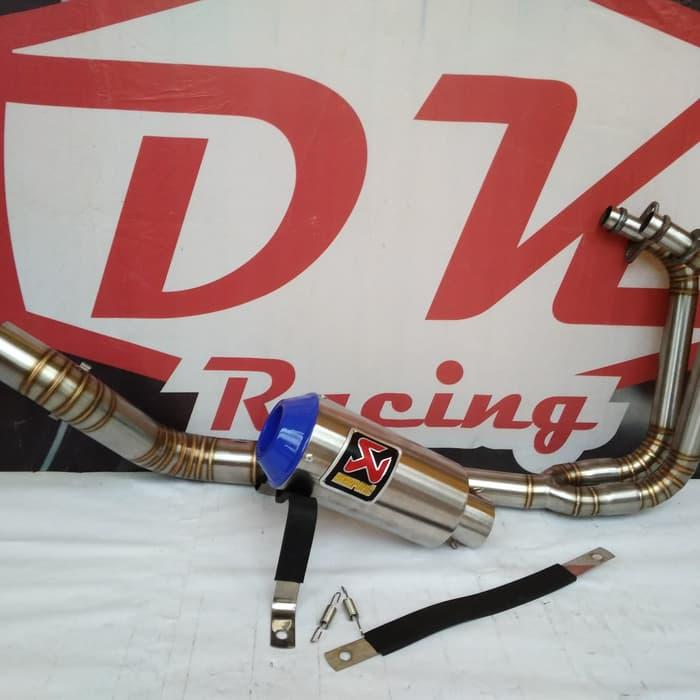 Knalpot Racing Kawasaki Z250 Akrapovic Monster Blue By Dk Racing Bekasi.