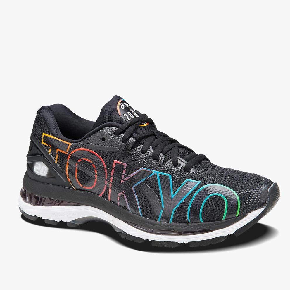 Asics Gel-Nimbus 20 Tokyo Marathon Men's Running Shoes - Standard Wide - Hitam