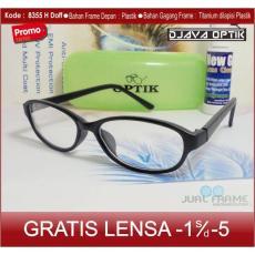 Frame Kacamata 8335 + Lensa minus/plus/silinder untuk pria dan wanita kacamata baca