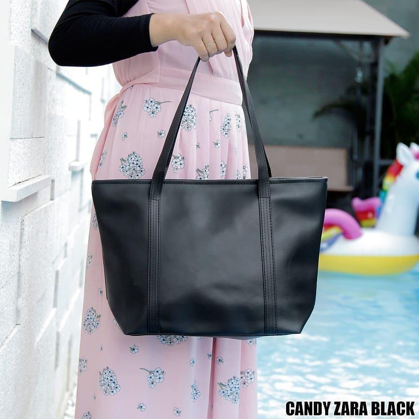 Original Candy Zara Tas Wanita Tote Bag - Black Tas Cantik Bahan Zara Colombo