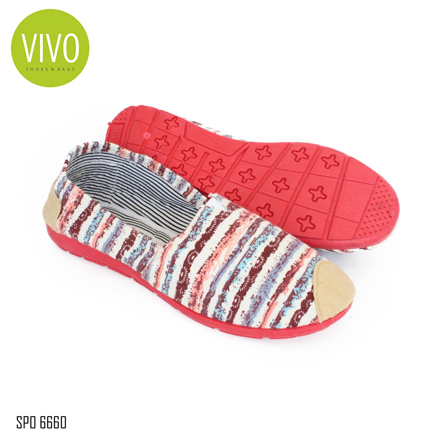 Vivo Shoes & Bags Sepatu Wanita Flat Shoes Wanita Sepatu Casual  Wanita Sepatu Slip On Wanita SP06660 - Maroon Size 35/40