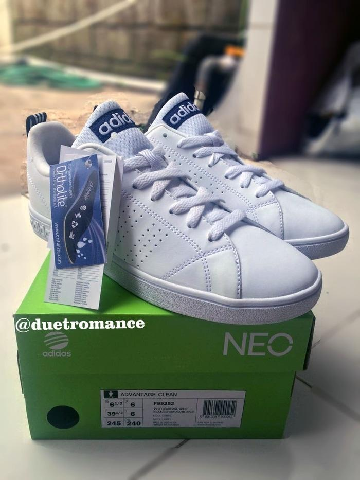 Adidas Originals Neo Advantage White List Navy Sneakers Shoes - WNCcKs