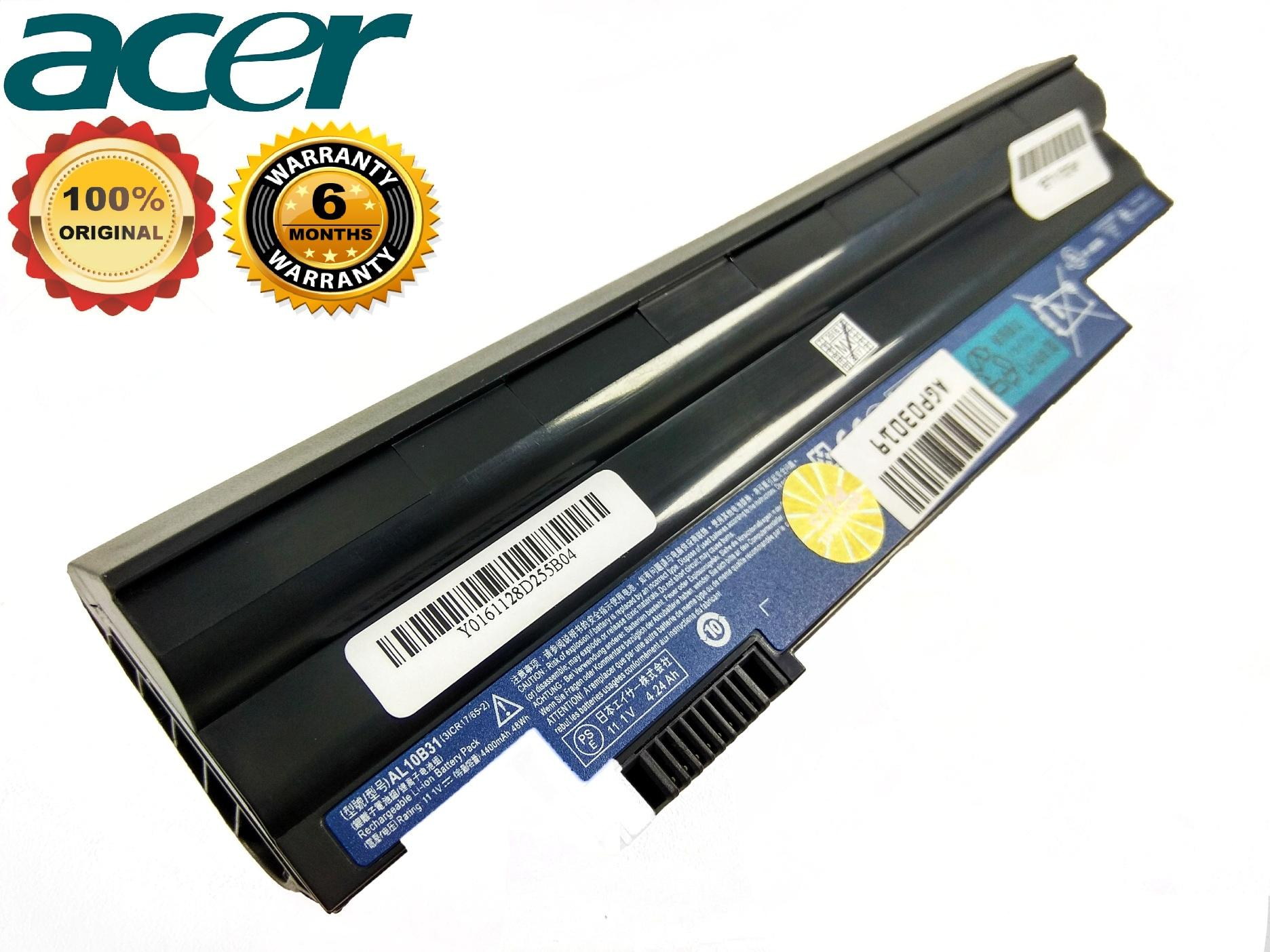 Baterai Acer Aspire One Original 722 522 D255 D260 D257 Black ORI