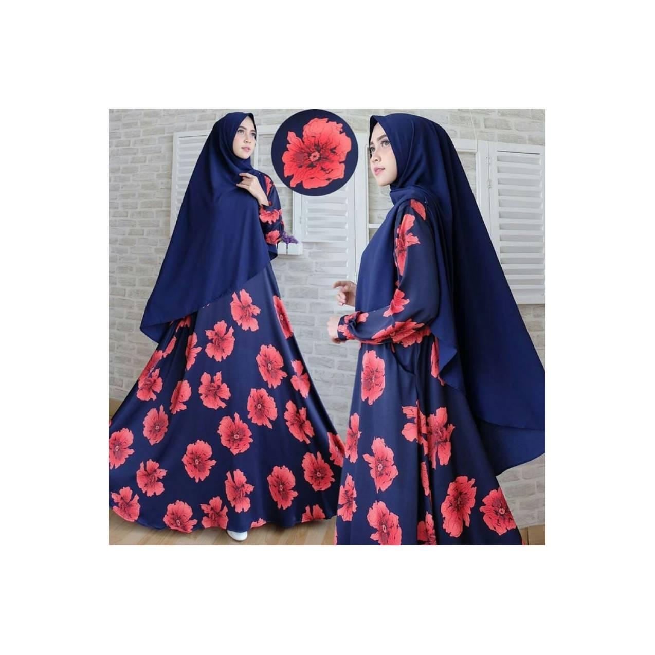Baju Pengantin Muslimah 120238 GAMIS WANITA ZANITHA SYARI NAVY