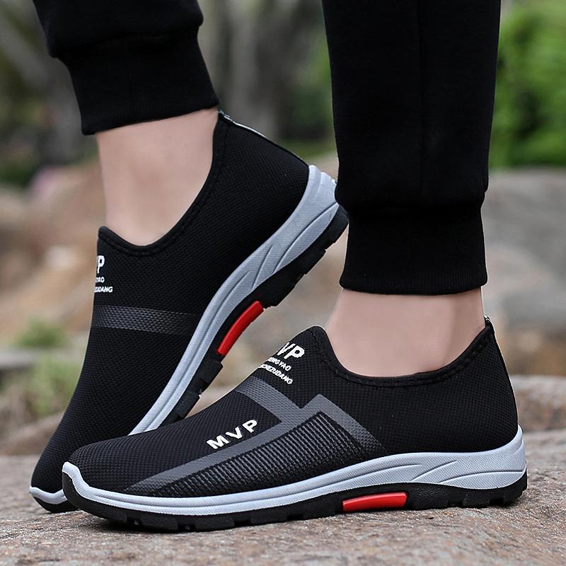 Mancy Baru Pria Kasual Sneakers Berjalan Sepatu Malas Nyaman Mengemudi Sepatu Olahraga Sepatu Atletik Untuk Pria