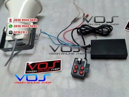 TOA HORN SPEAKER ZH-610SM + MODUL 7 SUARA NGEBAS DAN NYARING | ( klakson motor mobil keong denso suara waterproof telolet hella polisi sepeda fer ) |