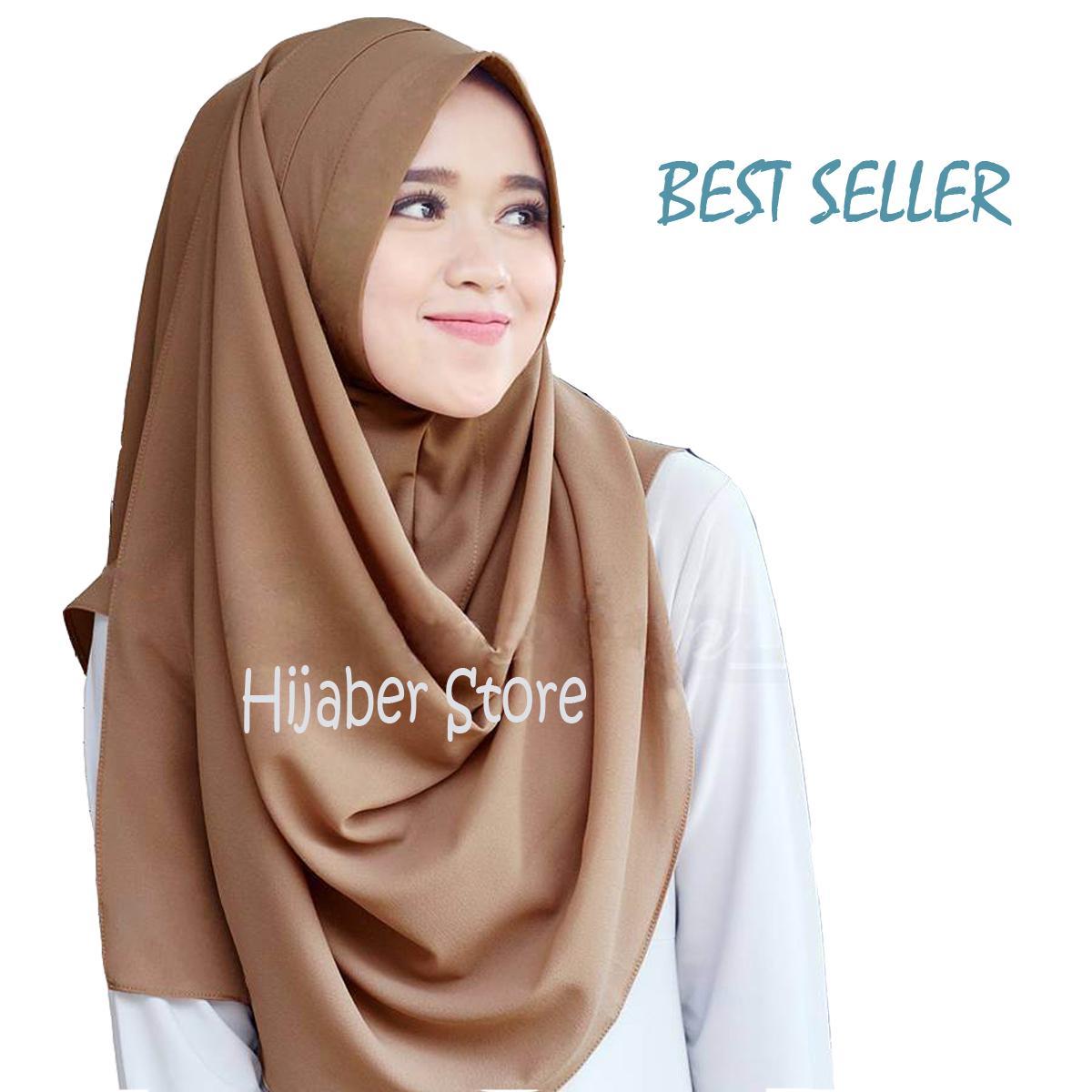 Jilbab / Hijab Pashmina Instan Zafina Bahan Bubble Premium (Panduan warna di Deskripsi)