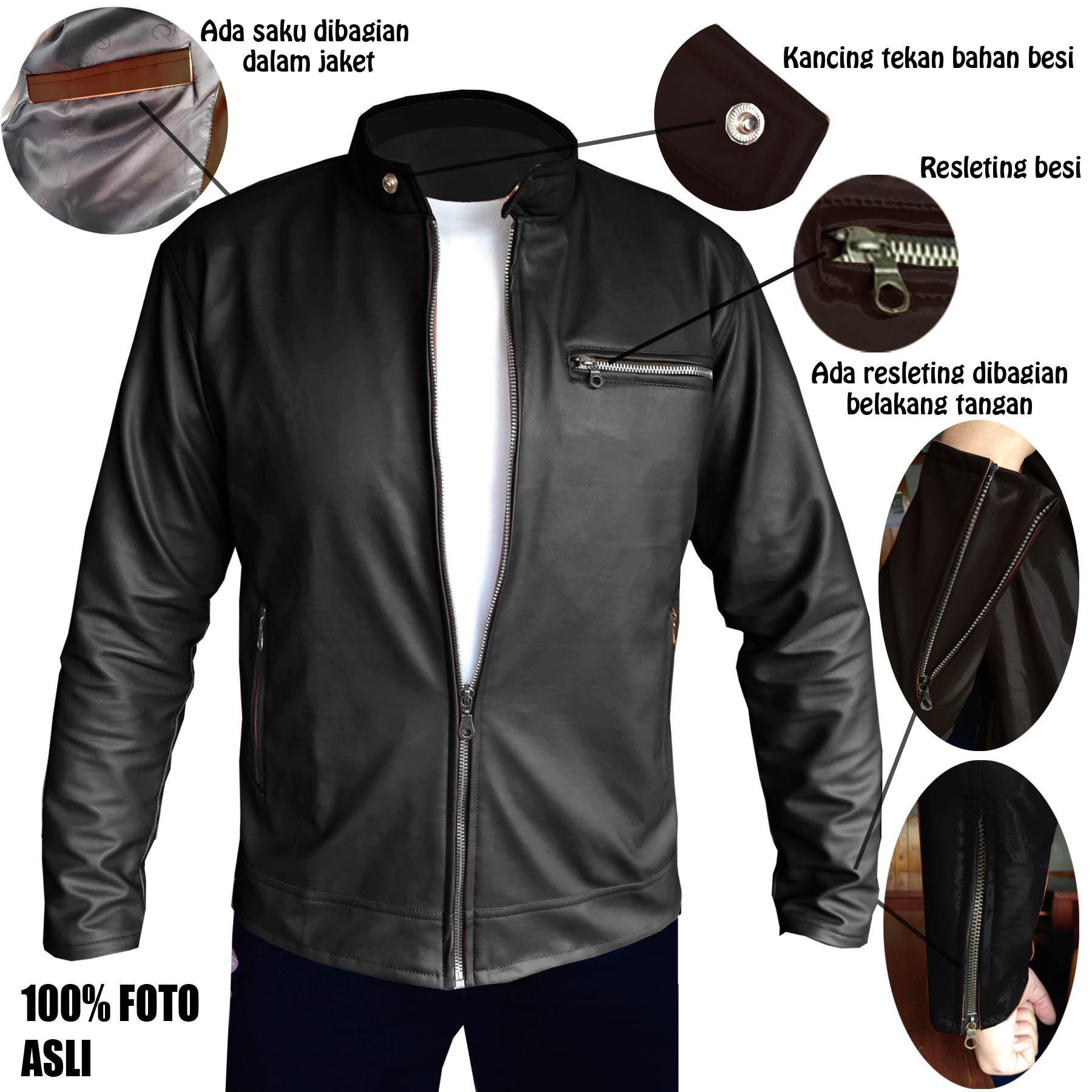Fs Fashion- Jaket SK Kulit Pria Vienna Exclusive Series  HITAM-COKELAT  114a9b3b78