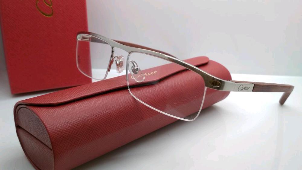 kacamata frame Cartier Kayu kacamata pria wanita kwalitas premium bahan kayu  di lapak kacamata_jakarta getjoinshop