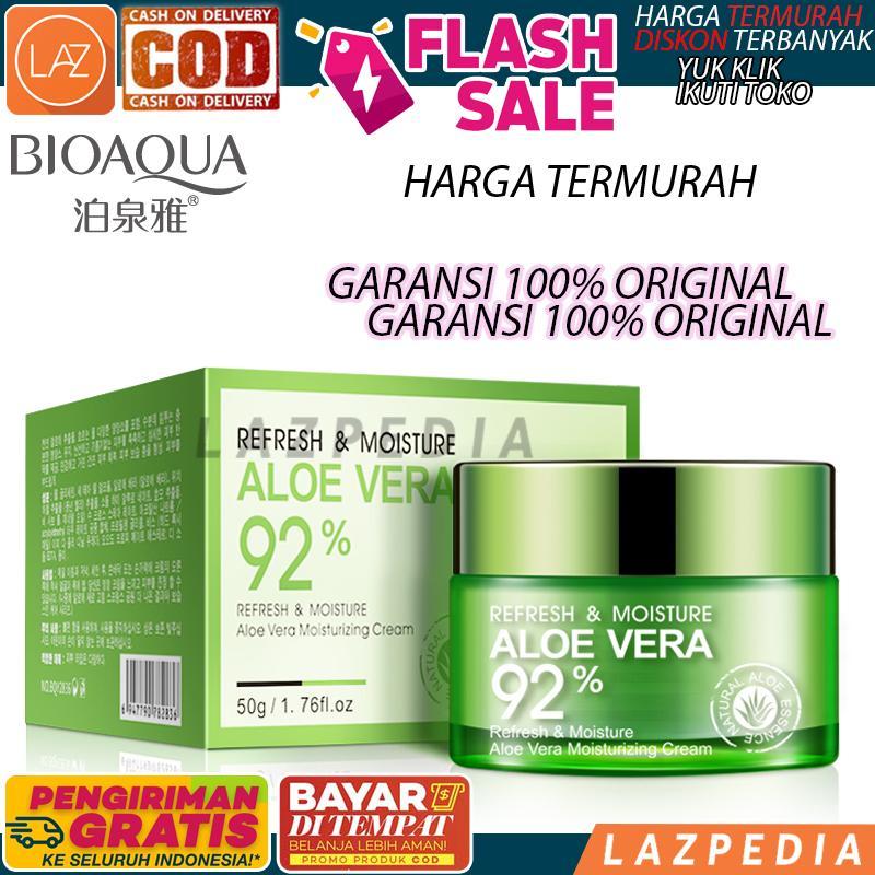 Laz COD - Dijamin Original BioAqua Aloe Vera 92% Serum Wajah Essence Soothing Gel Serum