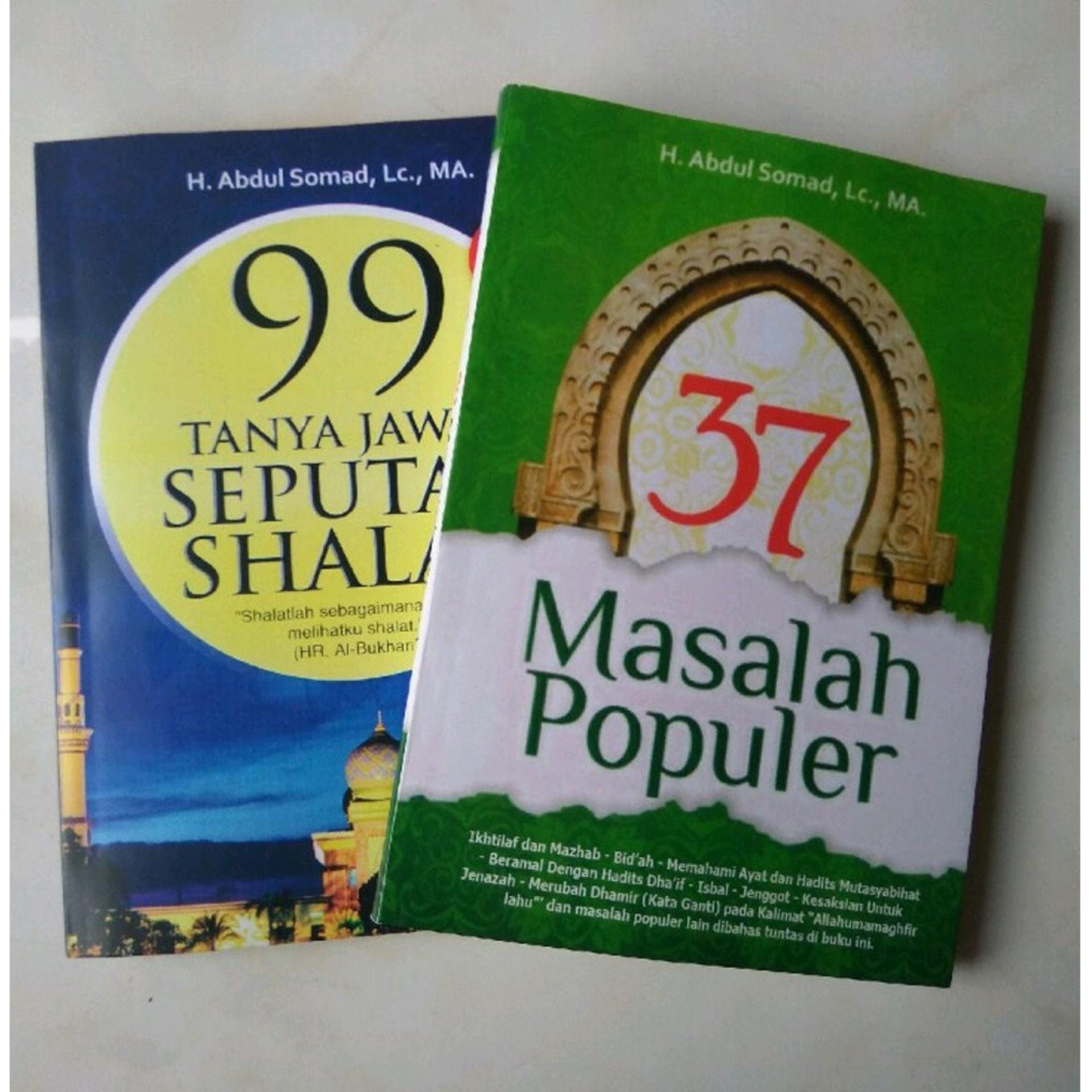 PAKET ORIGINAL 2 BUKU USTADZ ABDUL SOMAD (37 Masalah Populer + 99 Tanya Jawab Seputar Shalat)