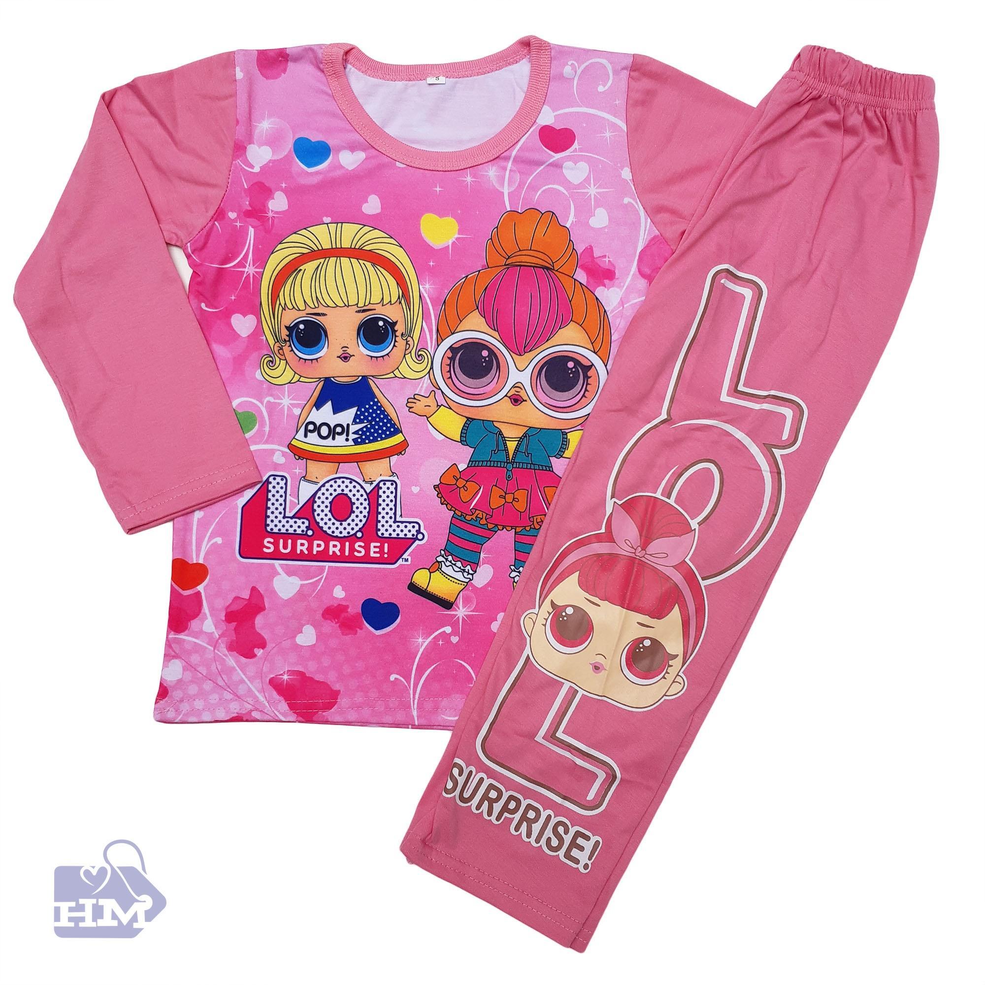 Jual Baju Atasan Anak Perempuan Piyama Gw Cowo Dino Hm Setelan Lol Surprise