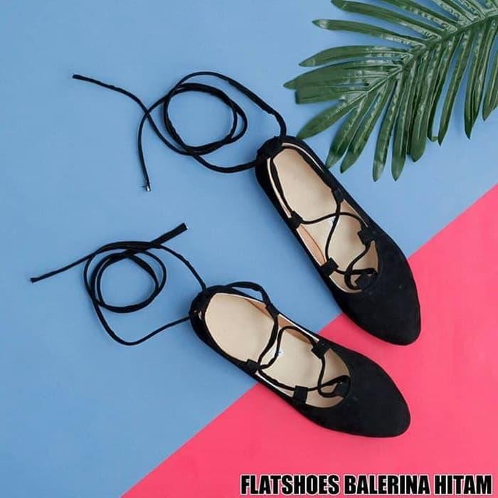 Flatshoes Balerina Black - Sepatu Fasion - Sepatu Murah - Sepatu Masa Kini - Sepatu Wanita