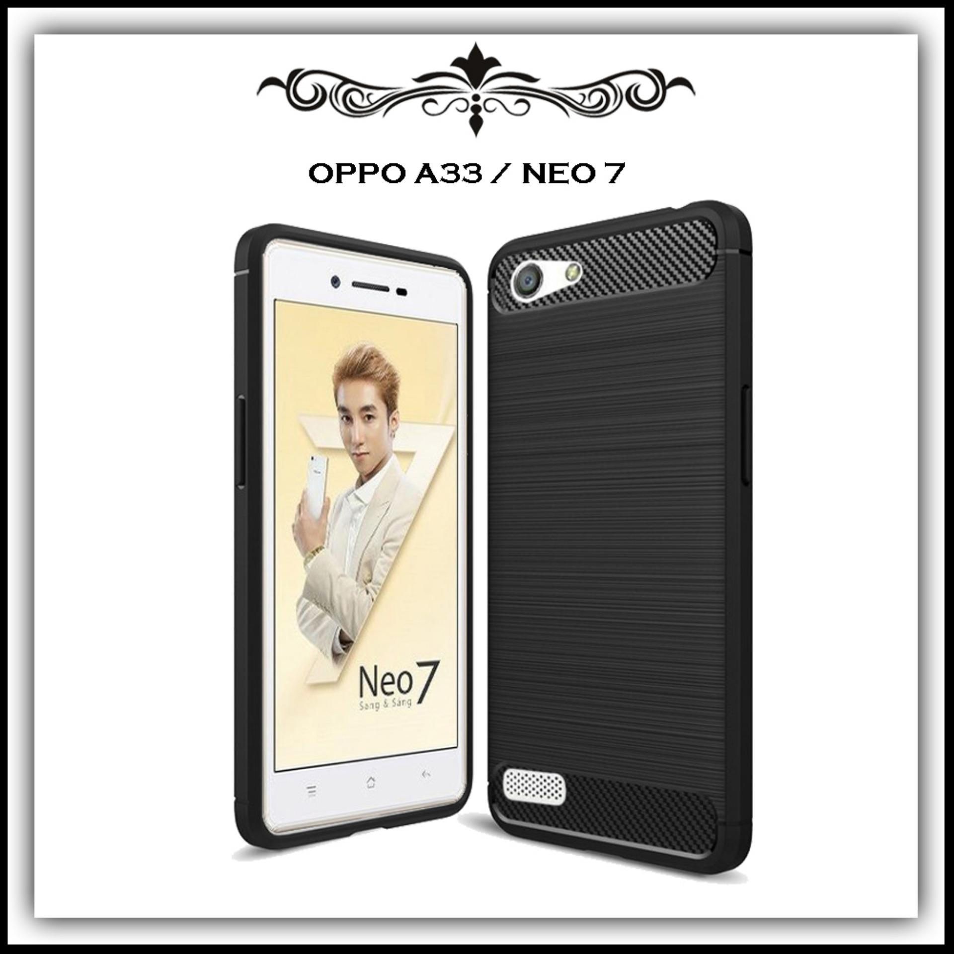 Mushroom Case Ipaky Carbon Fiber Shockproof Hybrid Elegant Case for Oppo A33 / Neo 7