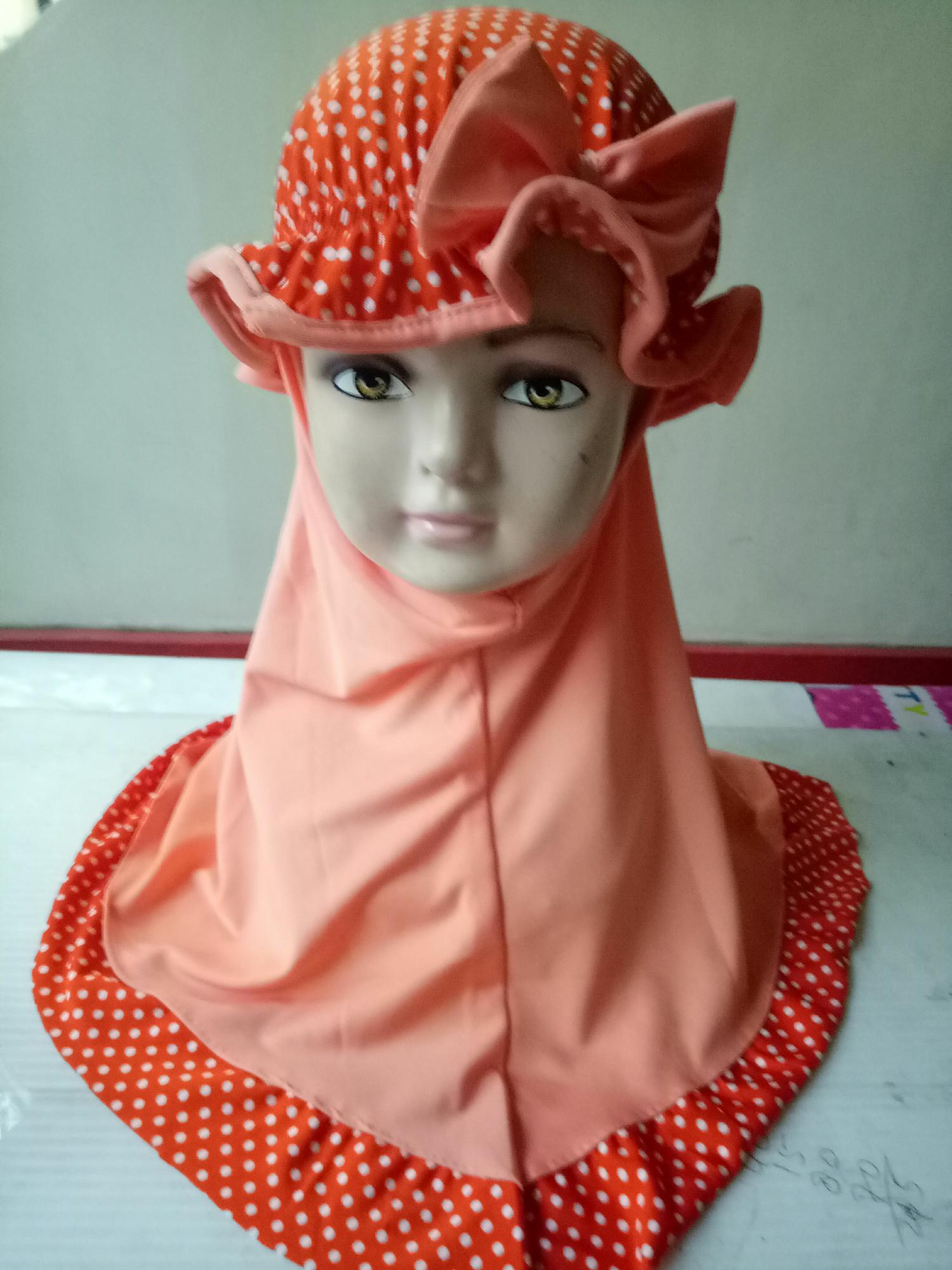 Jilbab Anak/Baby Turban Bisa Di Lepas Cantikkk