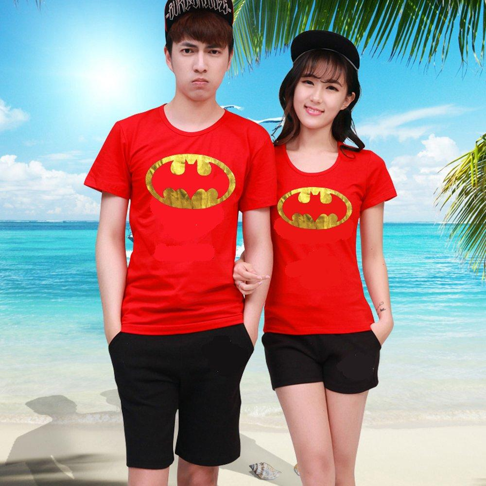 KAOS COUPLE BATMAN GOLD FOIL (MERAH) di lapak COUPLE GROSIR couplegrosir
