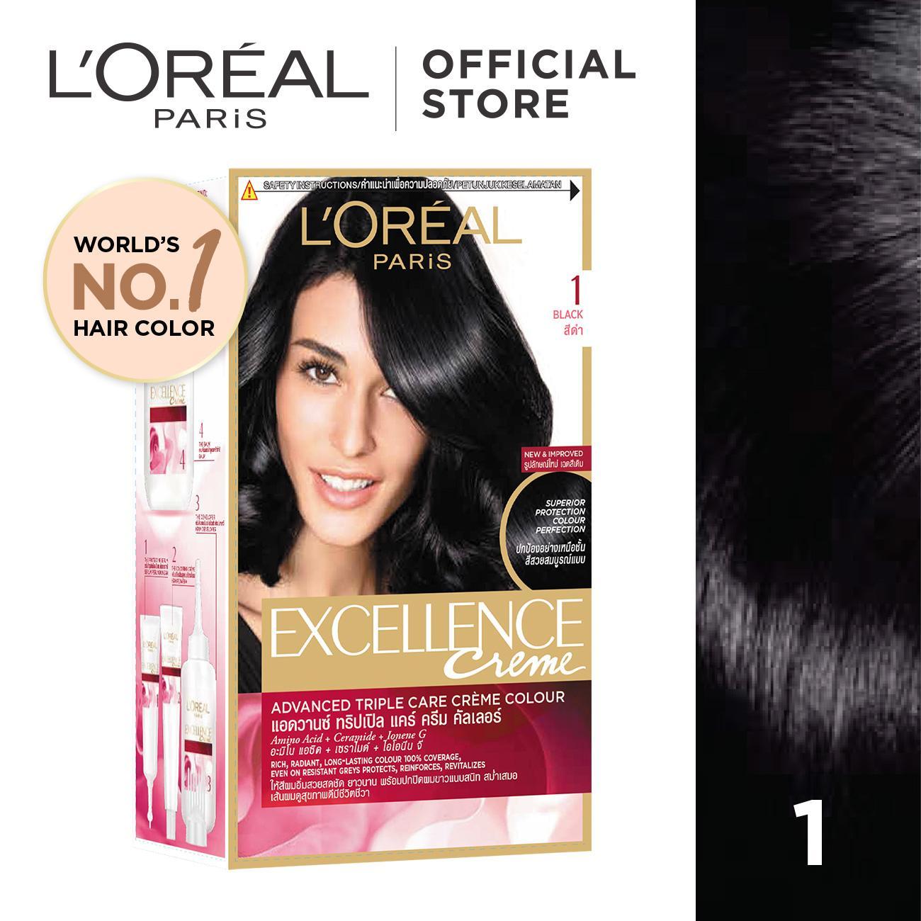 5732 barang ditemukan dalam Cat Rambut. L'Oreal Paris Excellence Creme - #1 Natural Black