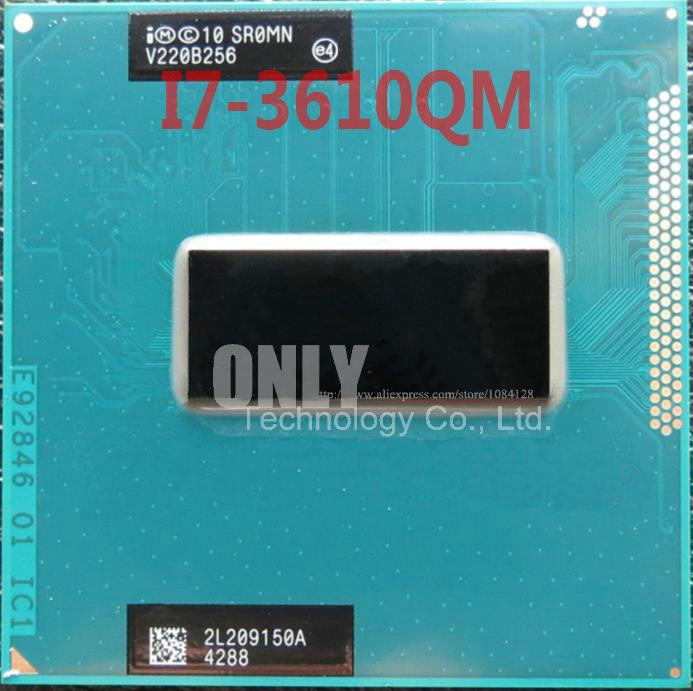 New Central Processor SR0MN I7-3610QM Core I7 Ponsel Cpu I7 3610QM Laptop Cpu PGA 6 MB 2.3 GHz untuk 3.3 GHz Sromn