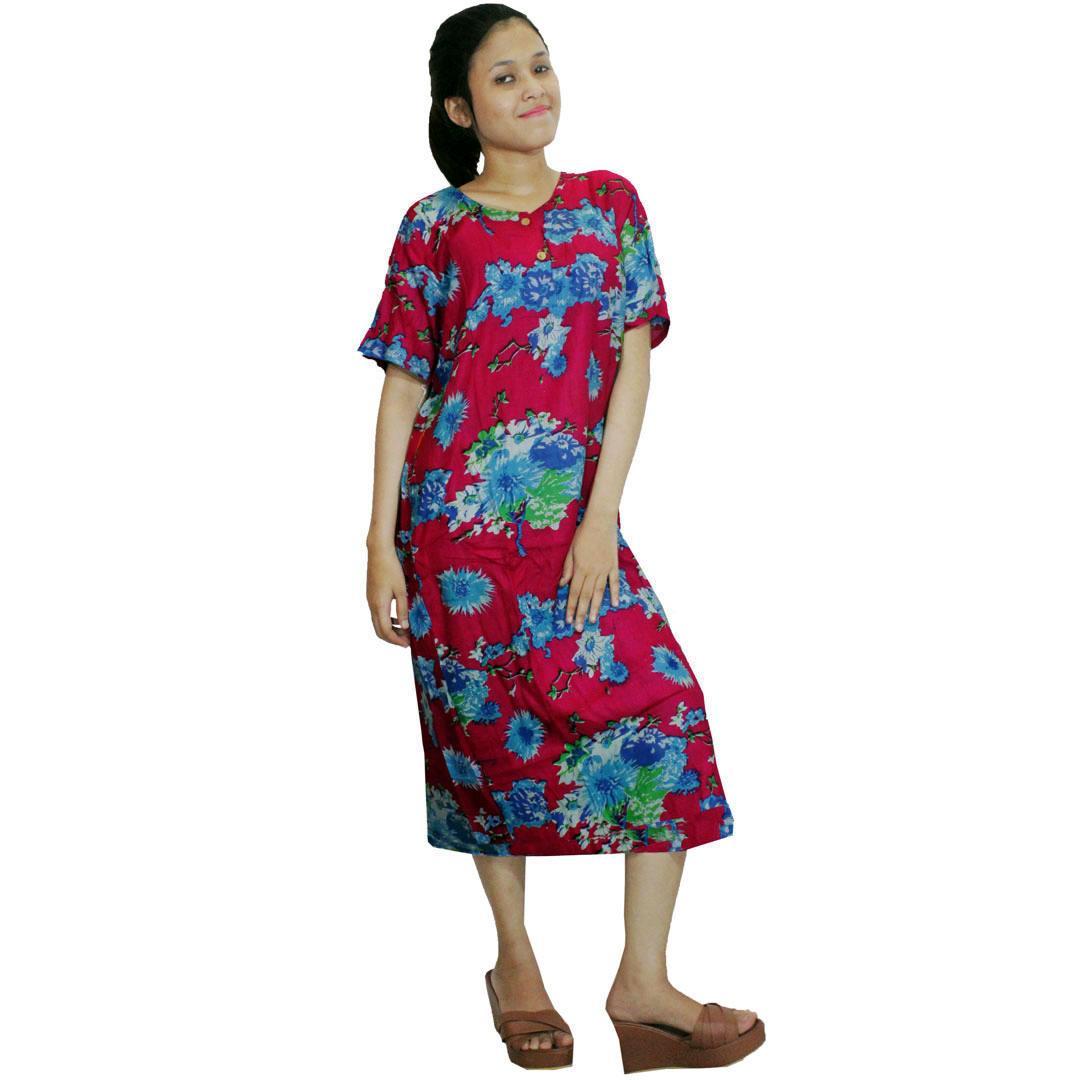 Daster Batik, Daster Lengan Pendek, Baju Tidur, Piyama, Leher Kerut (DPT001-36) Batikalhadi Online