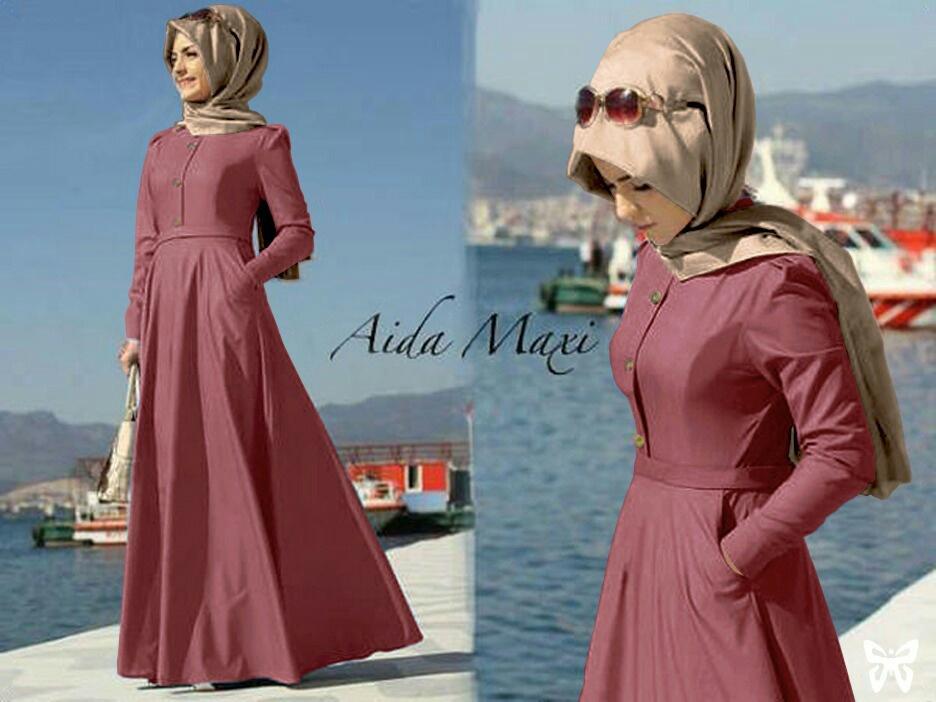 Toko Atasan Wanita Syari Maxi Ayra / Long Dress Kaftan Premium / Hijab Gamis Muslim / Fashion Musli