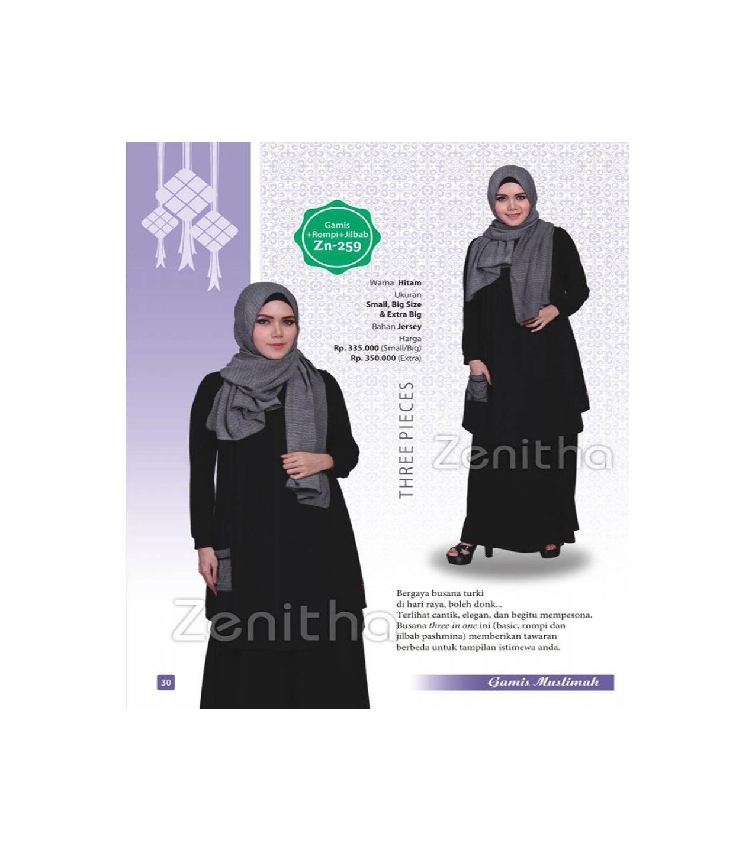 Baju Muslimah Gamis Murah Bahan Kaos ZENITHA - Model 259