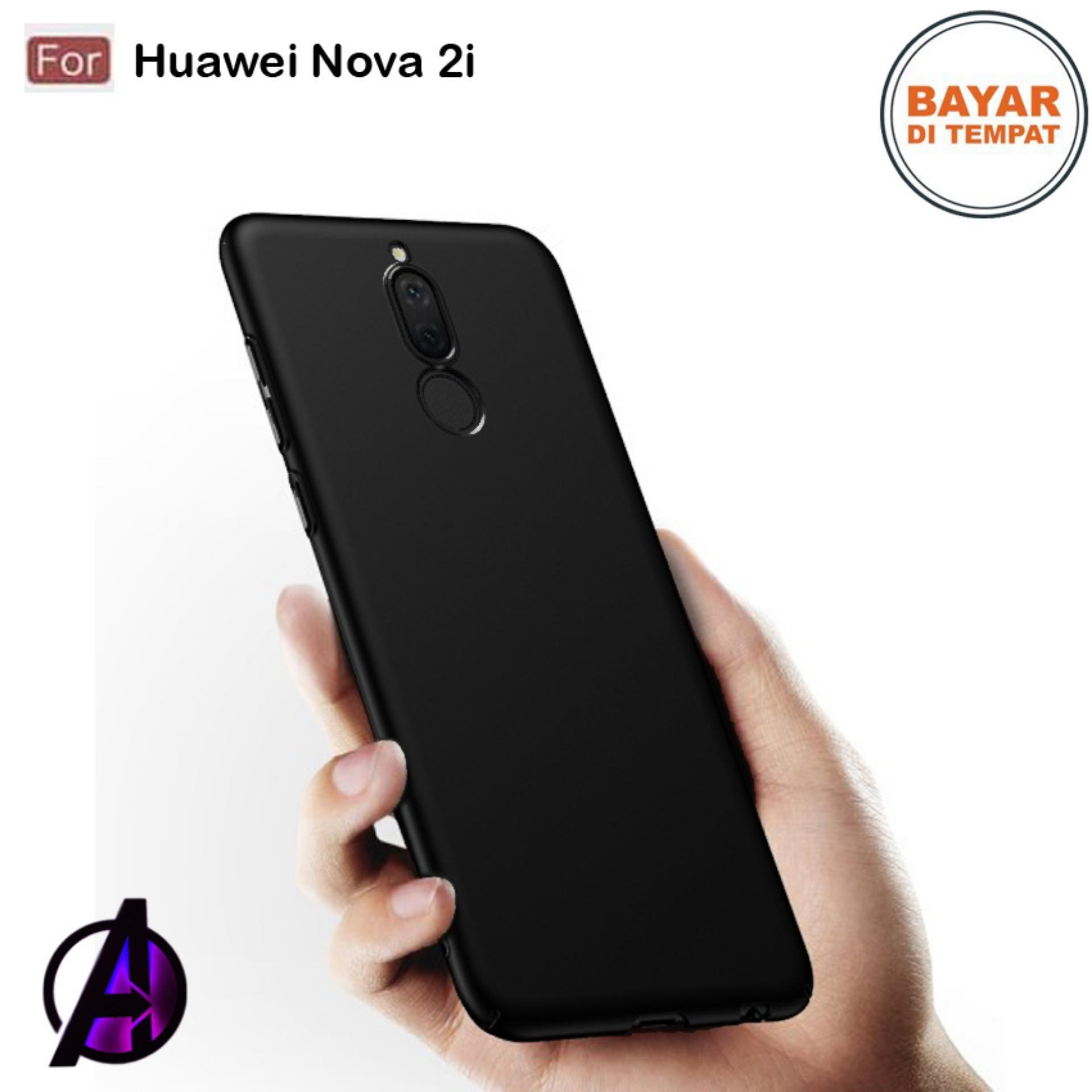 Case Matte Black Soft Slim Casing Handphone Huawei Nova 2i
