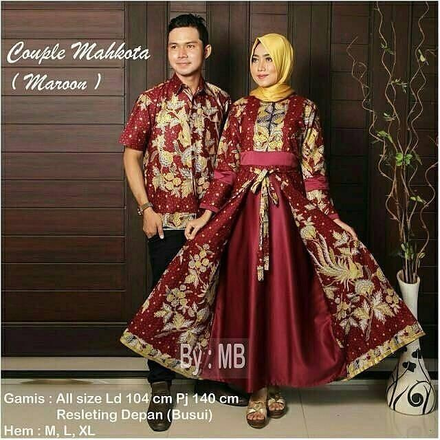 TERMURAH - Batik Couple / Batik sarimbit / Batik / Batik keluarga / Batik Modern / Couple Batik Sania