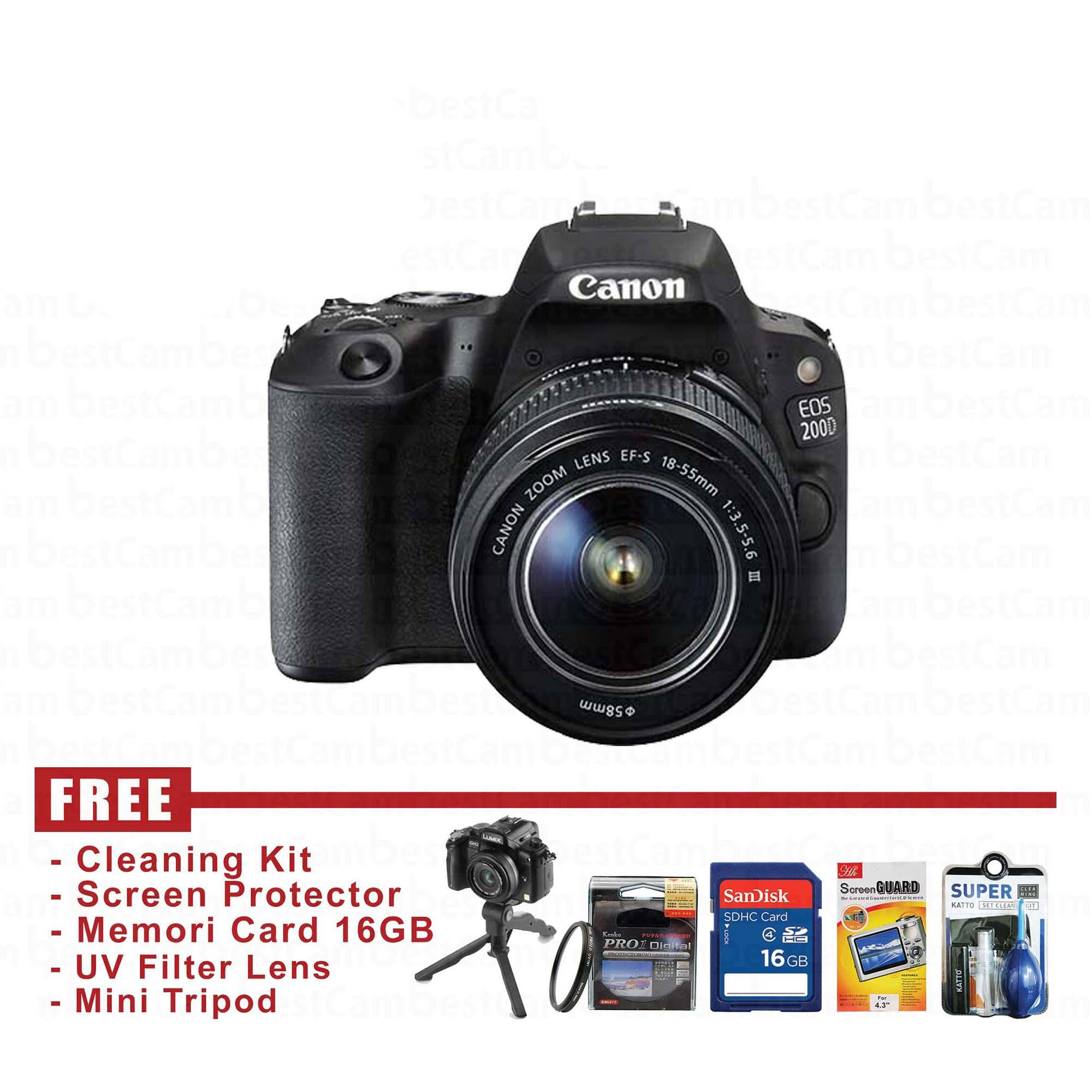 CANON EOS 200D KIT 18 55mm III FREE Accessories
