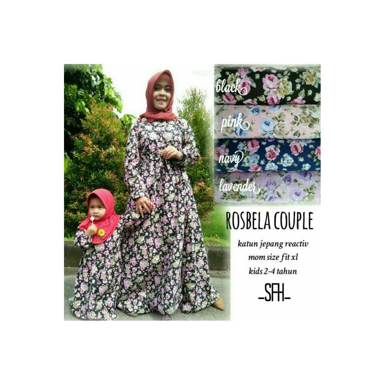 Gamis dress baju muslim murah muslimah couple sarimbit ibu anak kids
