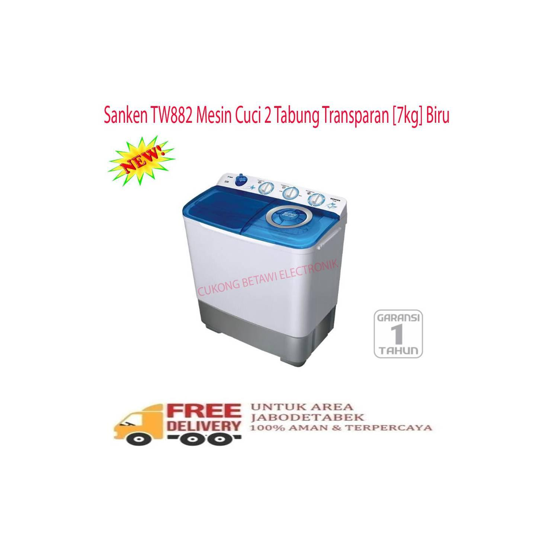 Sanken Tw 8700 Mesin Cuci 2 Tabung Pink Daftar Harga Terlengkap Tw8700 Gratis Biaya Pengiriman 882 7 Kg Free Ongkir Jabodetabek