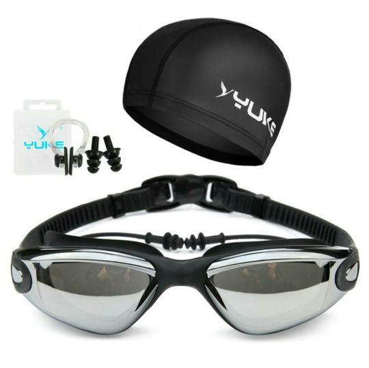 ORIGINAL!!! Kacamata renang paket dengan topi berkualitas - HHQA4N