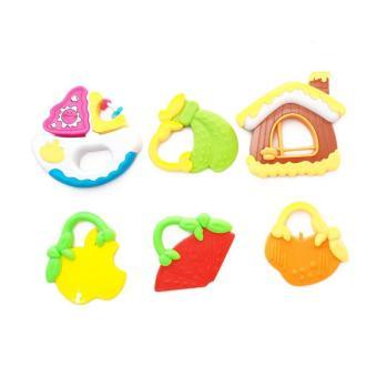 Harga Preferensial Momo Toys Mainan Edukasi Anak 6 Pcs Baby Rattle