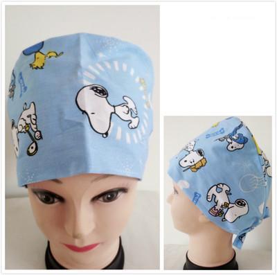 Kapas dicetak pria dan wanita dokter gigi topi topi (Nomor 14)